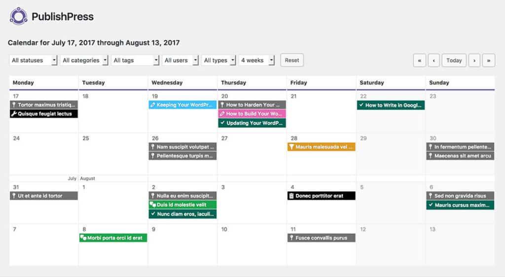 The PublishPress Editorial Calendar