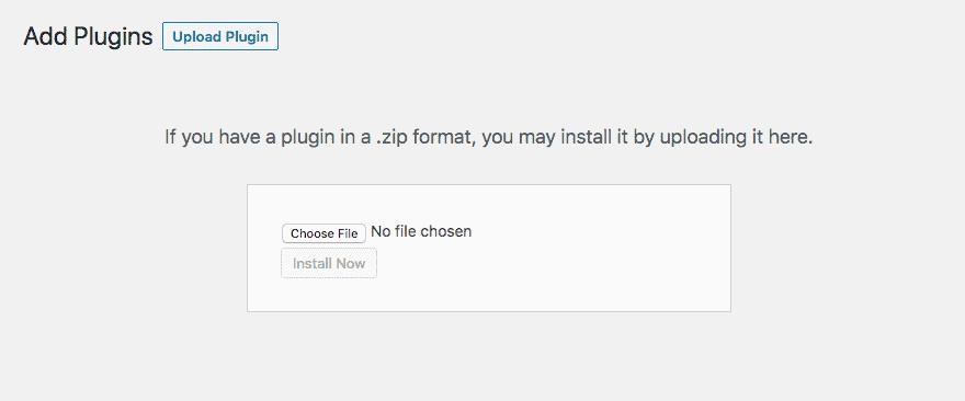 Upload Plugin Screenshot